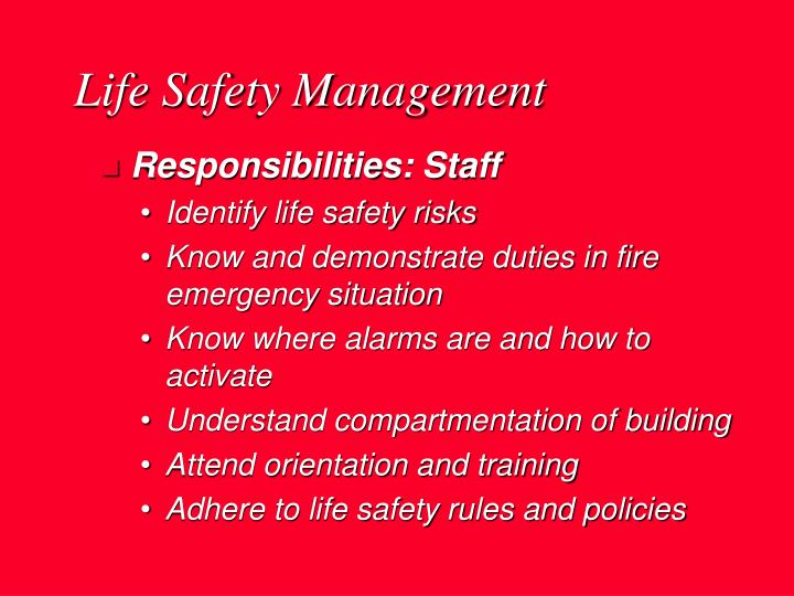 Life Safety Management
