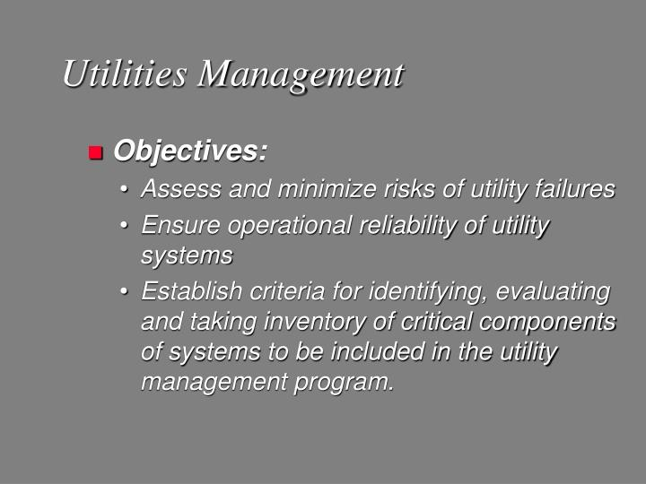 Utilities Management