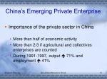 china s emerging private enterprise