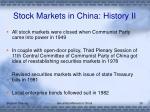 stock markets in china history ii