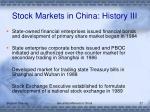 stock markets in china history iii