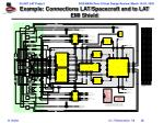 example connections lat spacecraft and to lat emi shield