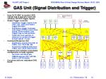 gas unit signal distribution and trigger