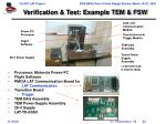 verification test example tem fsw