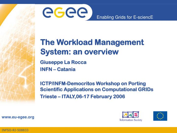 the workload management system an overview n.