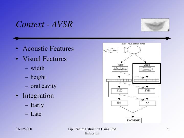 Acoustic Features