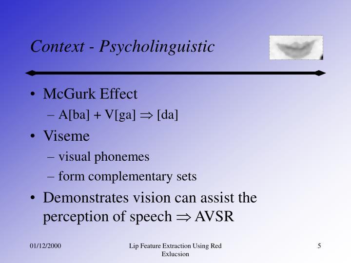 Context - Psycholinguistic