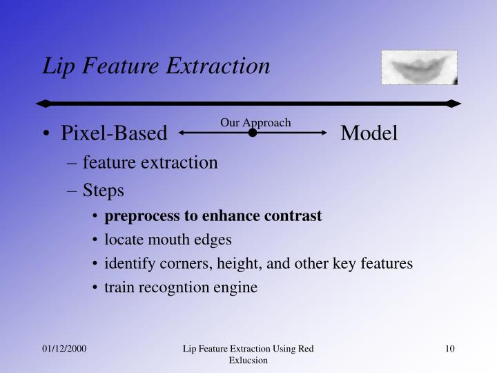 Lip Feature Extraction