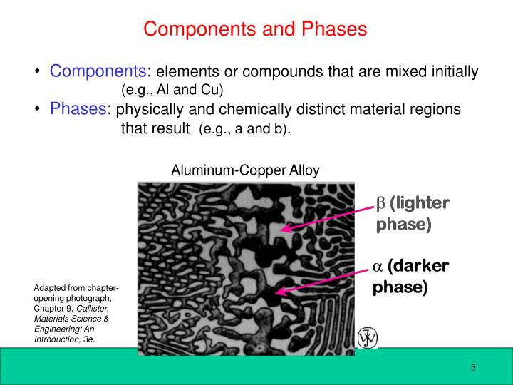 Components and Phases