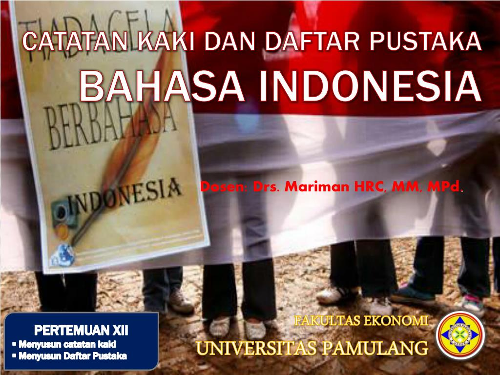 Ppt Catatan Kaki Dan Daftar Pustaka Bahasa Indonesia Powerpoint