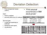 deviation detection