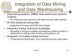 integration of data mining and data warehousing