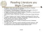 reading literature you might consider