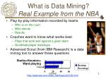 what is data mining real example from the nba