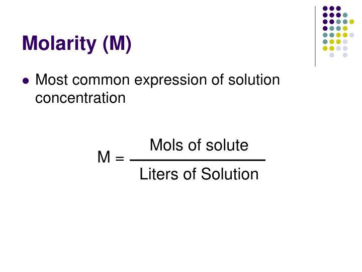 Mols of solute
