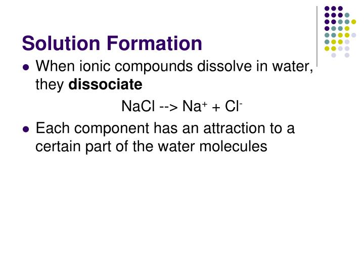 Solution Formation