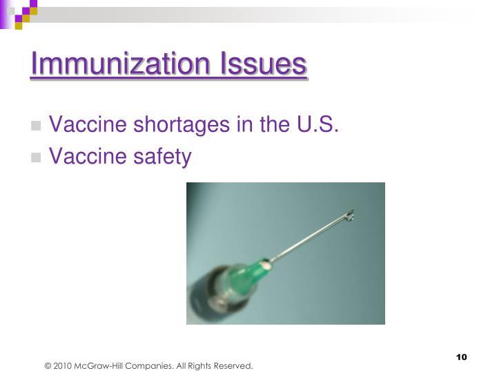 Immunization Issues