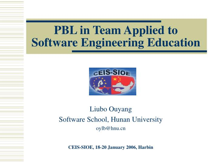 pbl in team applied to software engineering education n.