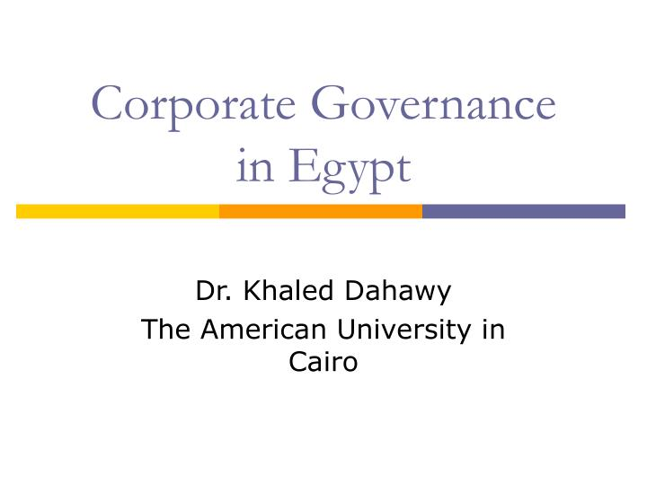 corporate governance in egypt n.