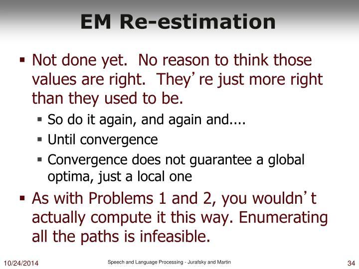 EM Re-estimation