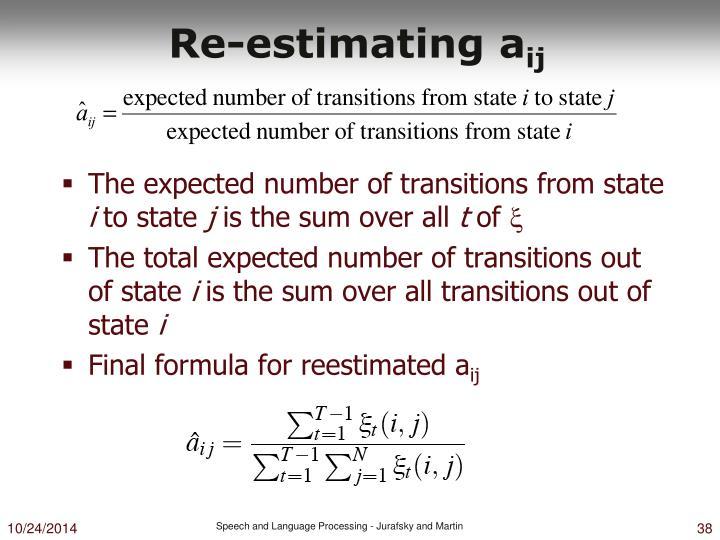 Re-estimating a