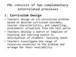 pbl consists of two complementary interrelated processes