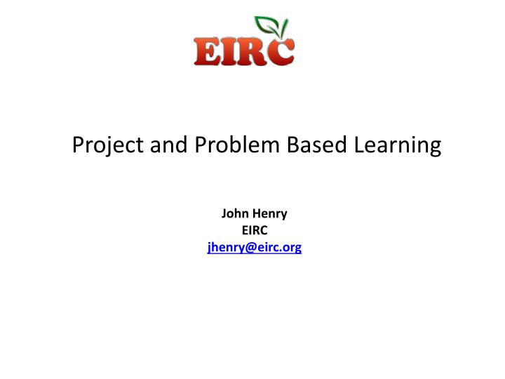 project and problem based learning n.
