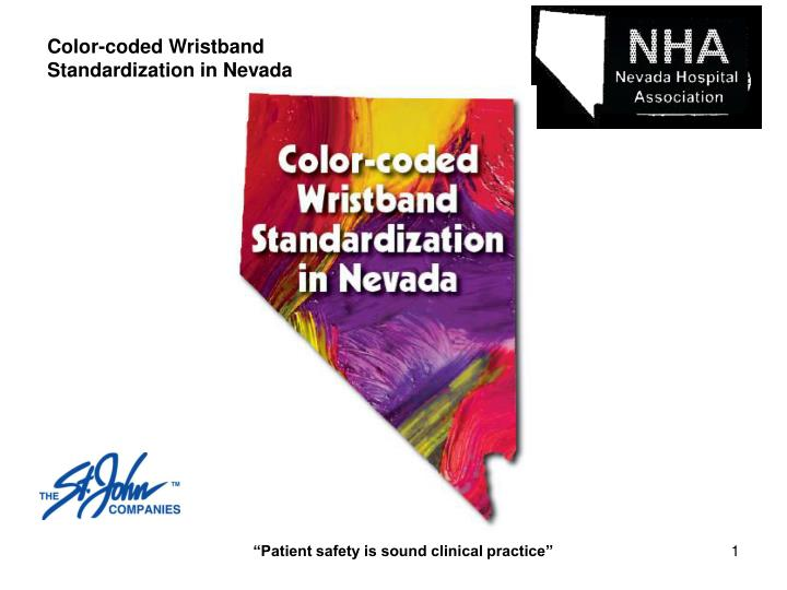 color coded wristband standardization in nevada n.