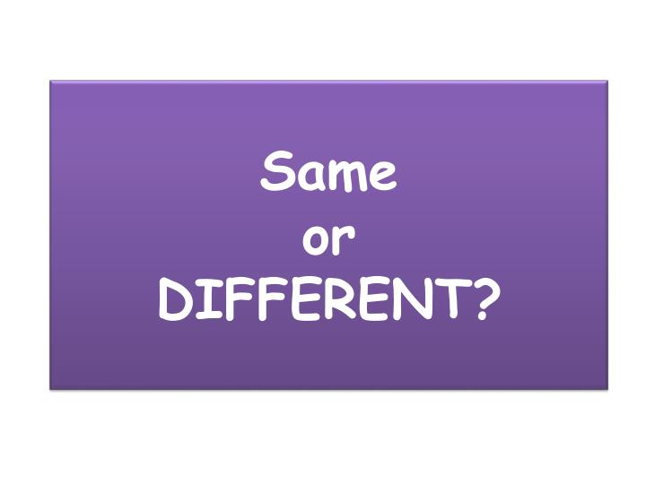 same or different n.