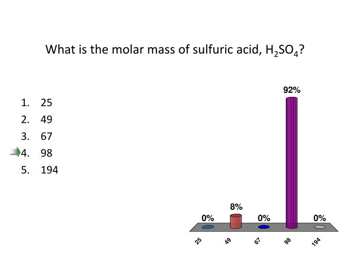 What is the molar mass of sulfuric acid, H
