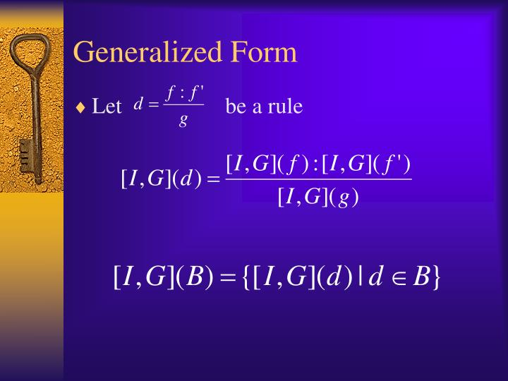 Generalized Form