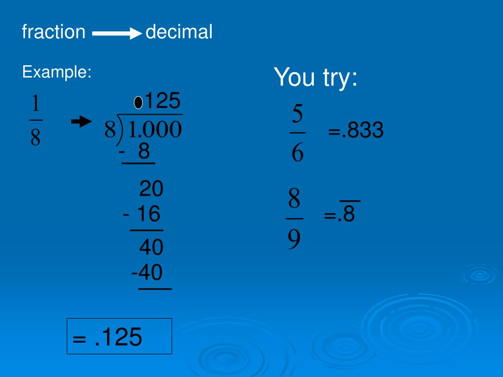 Ppt Decimals Fractions And Percents Powerpoint Presentation Free Download Id 5813548
