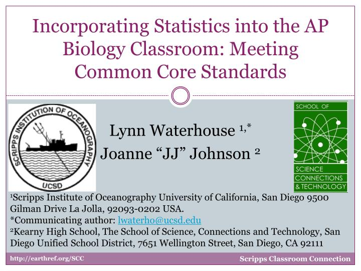 incorporating statistics into the ap biology classroom meeting common core standards n.