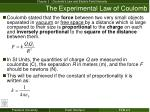the experimental law of coulomb1