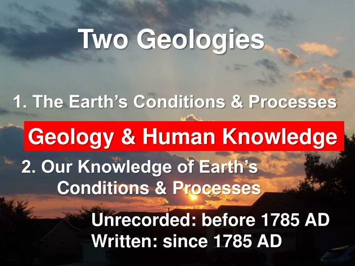 Two Geologies