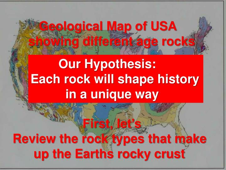 The Earth's rocky crust & topography