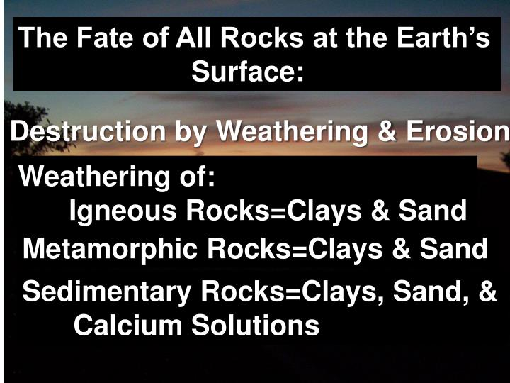The Fate of All Rocks at the Earth's