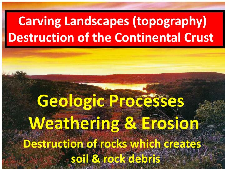 Carving Landscapes (topography)