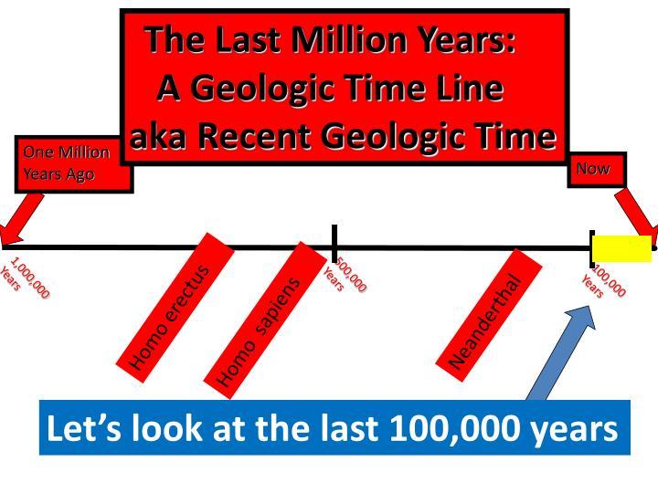 The Last Million Years: