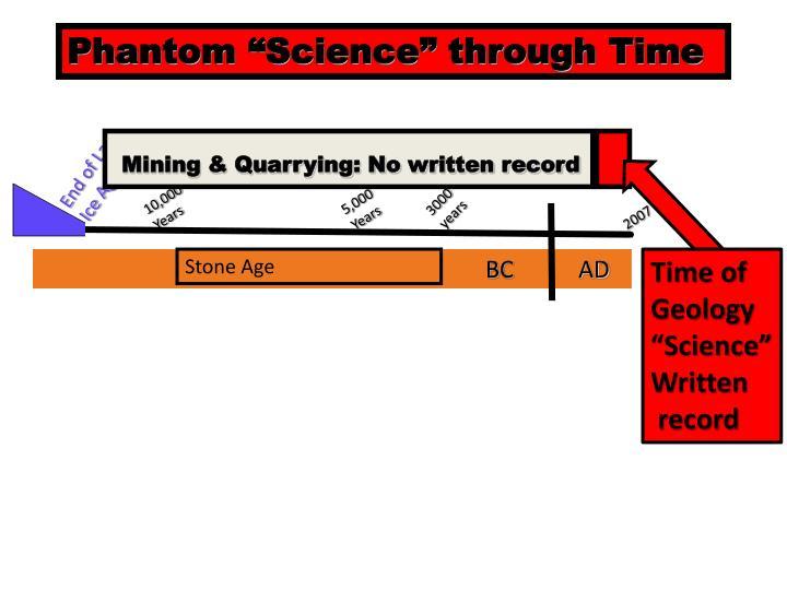 "Phantom ""Science"" through Time"