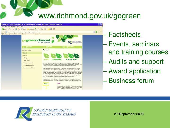 www.richmond.gov.uk/gogreen