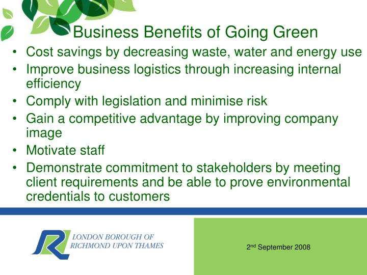 Business Benefits of Going Green