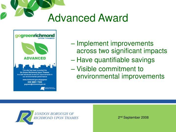 Advanced Award