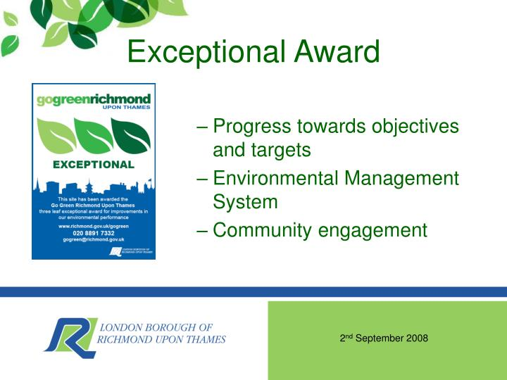 Exceptional Award