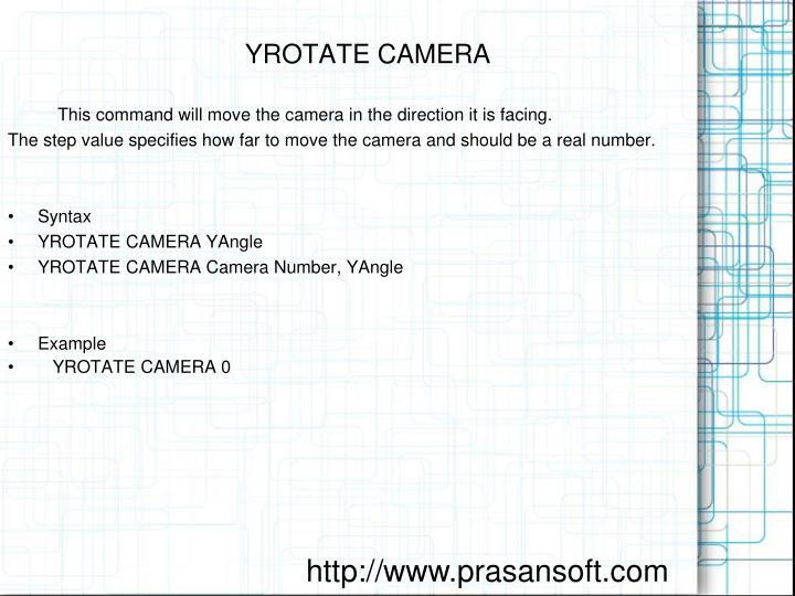 YROTATE CAMERA