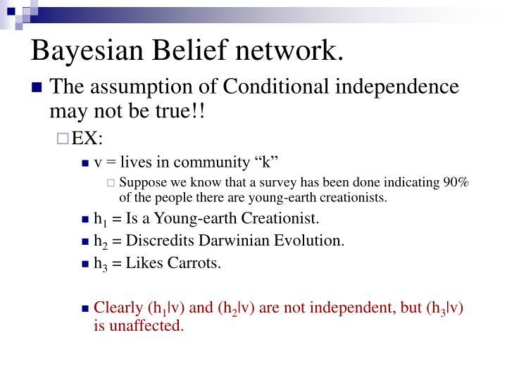 Bayesian Belief network.