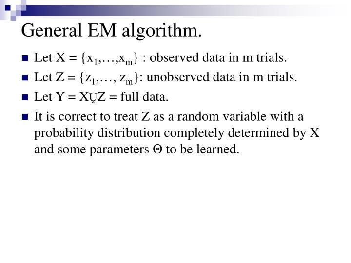 General EM algorithm.
