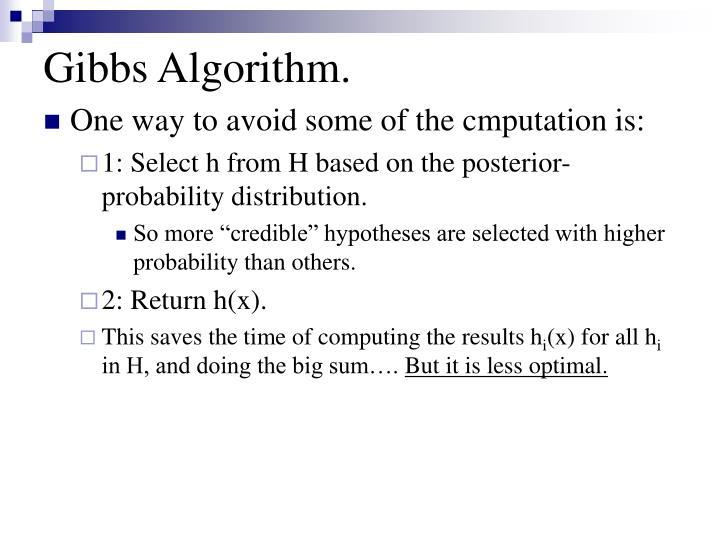 Gibbs Algorithm.