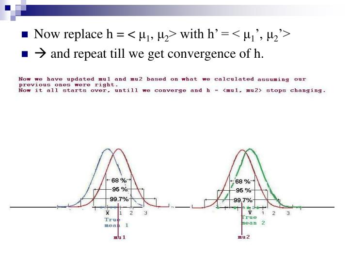 Now replace h = <