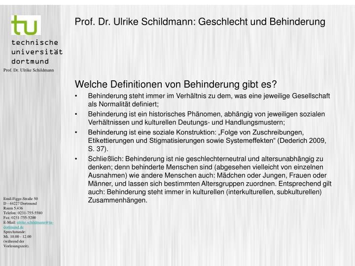 Prof dr ulrike schildmann geschlecht und behinderung1